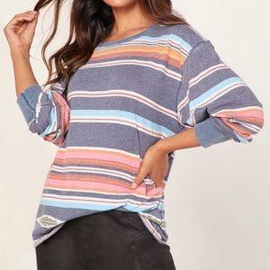 Free People Arielle Printed Long Sleeve Top